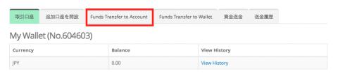 資金移動画面へ移動