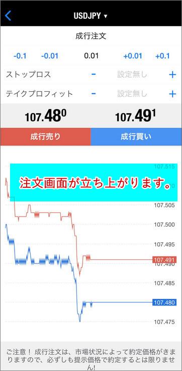 TitanFX_MT4_注文画面