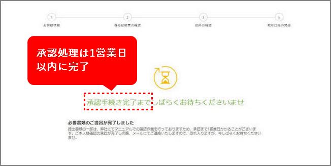 TitanFX口座開設手順_承認完了の待ち_パソコン画面