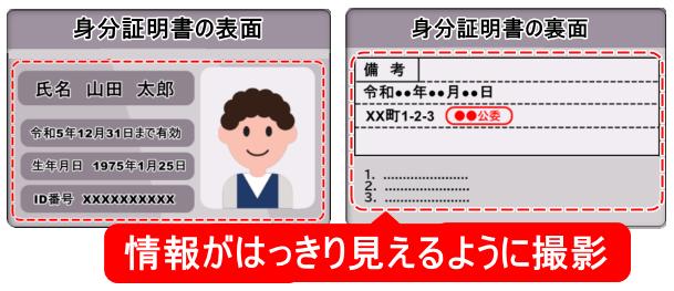 TTCM_身分証明書の表面、裏面写真を撮影