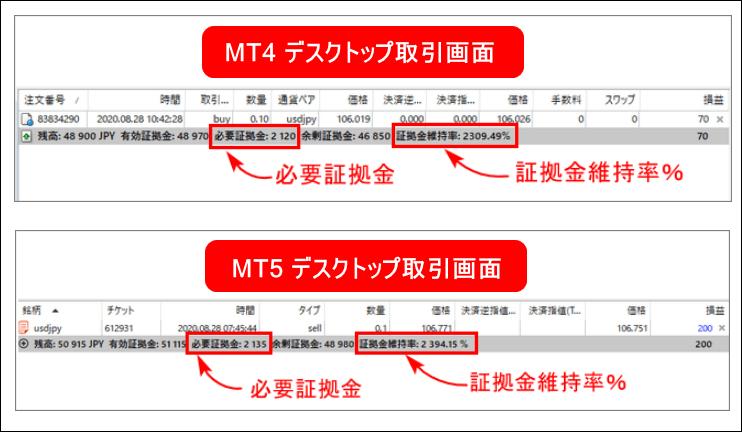 XM証拠金_パソコンの取引画面